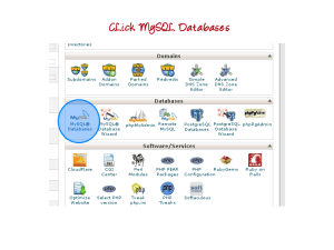 Click the MySQL Databases icon