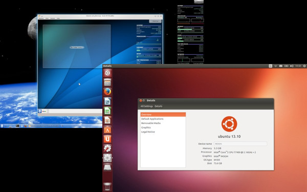 kubuntu 13:10 and Ubuntu 13:10 Desktop Screenshots