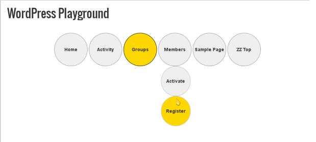 Example Genesis Circle Shaped Menu Tabs