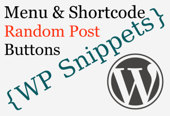 WordPress Random Post Button Code Snippets