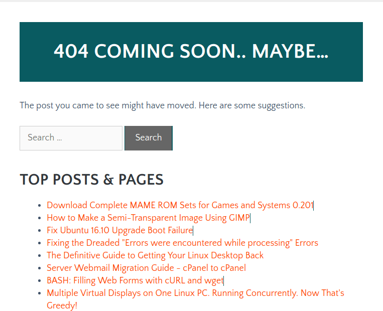 Make a Useful 404 Page