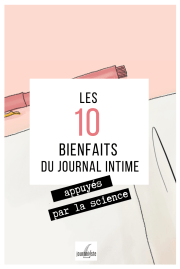 10 avantages journal intime