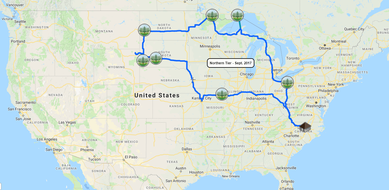 Map of Our Trips to All National Parks - Journey to All ...