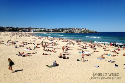 World-famous Bondi Beach where tops are apparently optional!