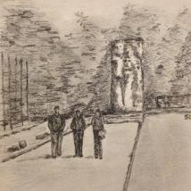 Another sketch by Ben from our day at Stutthof