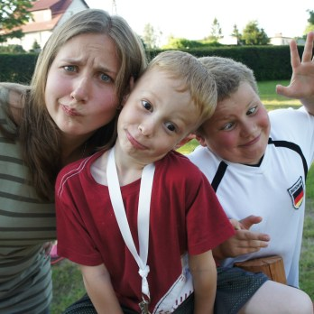 Tanya, Ethan and Ben K being silly.