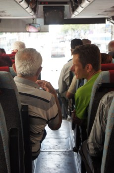 Bus trips to our excursions can be a good time for conversation.. especially if you speak Russian.