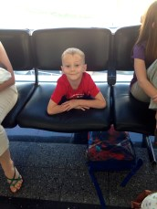 Ethan waiting at the airport....