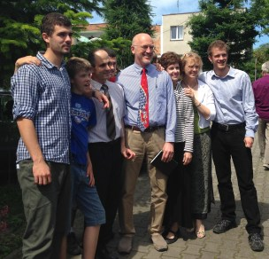 Our wonderful hosts in Gdynia - the Lemke Family (and Dave and Sandy Hatfield)