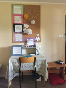 New location for the prayer room, thanks to Anna and Lidia.