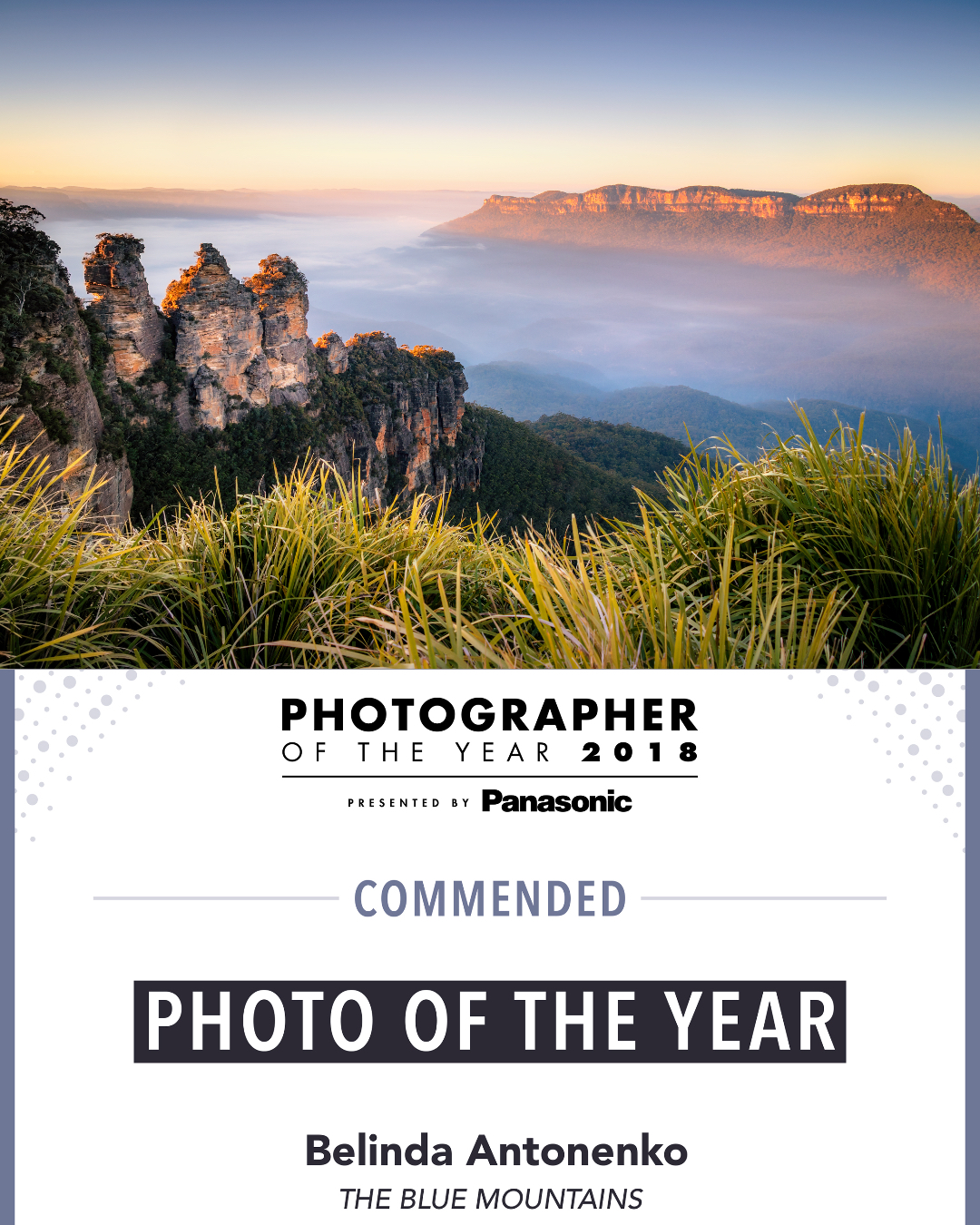 Photography - Photographer Of The Year Award - The Blue Mountains