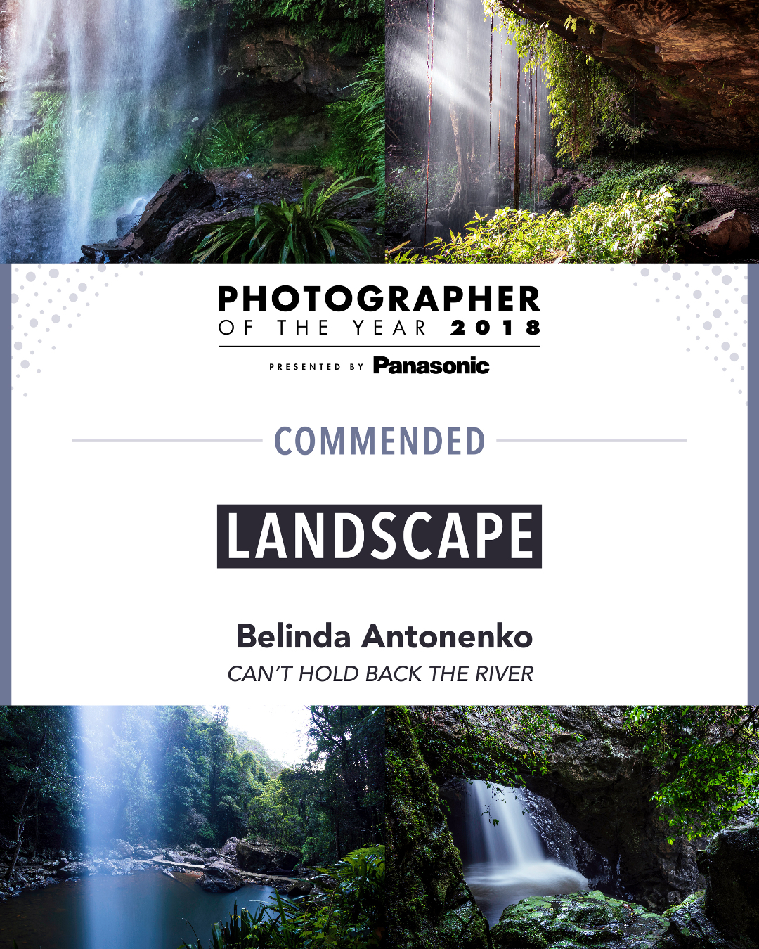 Photography - Photographer Of The Year Award - Can't Hold Back The River