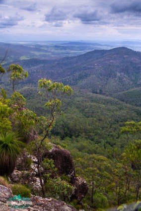 South-westerly views from Somerset Lookout, Mt Mee, D'Aguilar National Park, Queensland, Australia