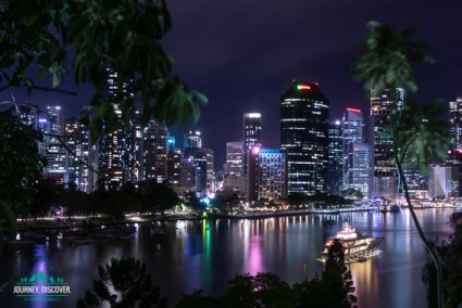 Brisbane Skyline From Kangaroo Point C