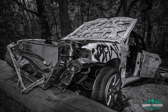 Trashed Car, D'Aguilar National Park, Moreton Bay