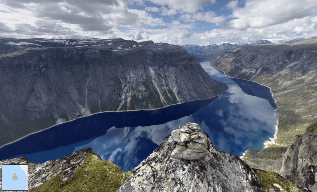 Norway - Lake Ringedalsvatnet Near The Famous Rock Plateau, Trolltunga