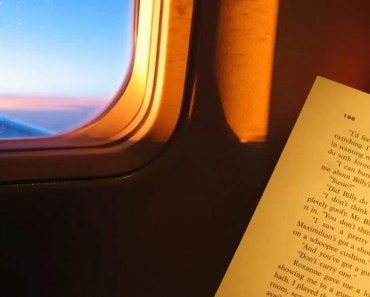 read book on airplane