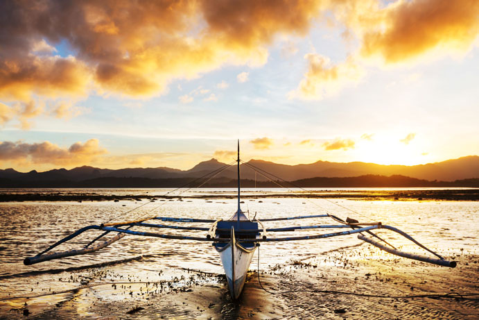 Boat on Water in Philippines