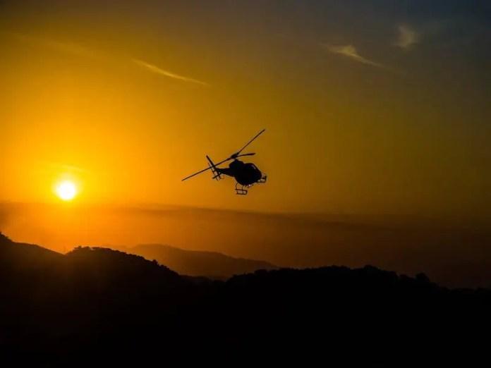 Rio de Janeiro night time helicopter ride