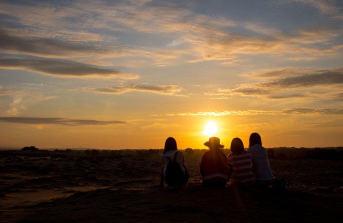 Sunset over the Mui Ne sand dunes, Vietnam