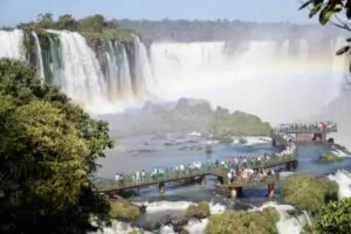 Boardwalk view of Iguazu Falls