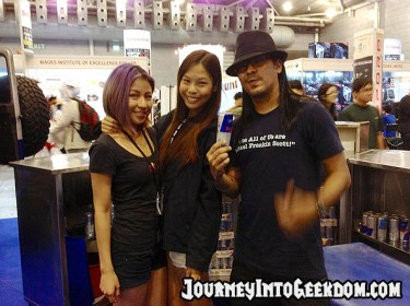 The very friendly babes at the RedBull booth
