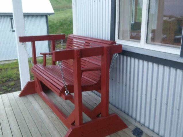 Vik hostel, porch
