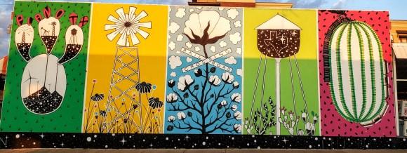five-panel mural, Plano arts district