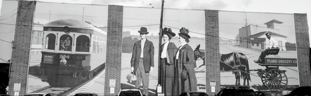 mural showing Plano of yesteryears
