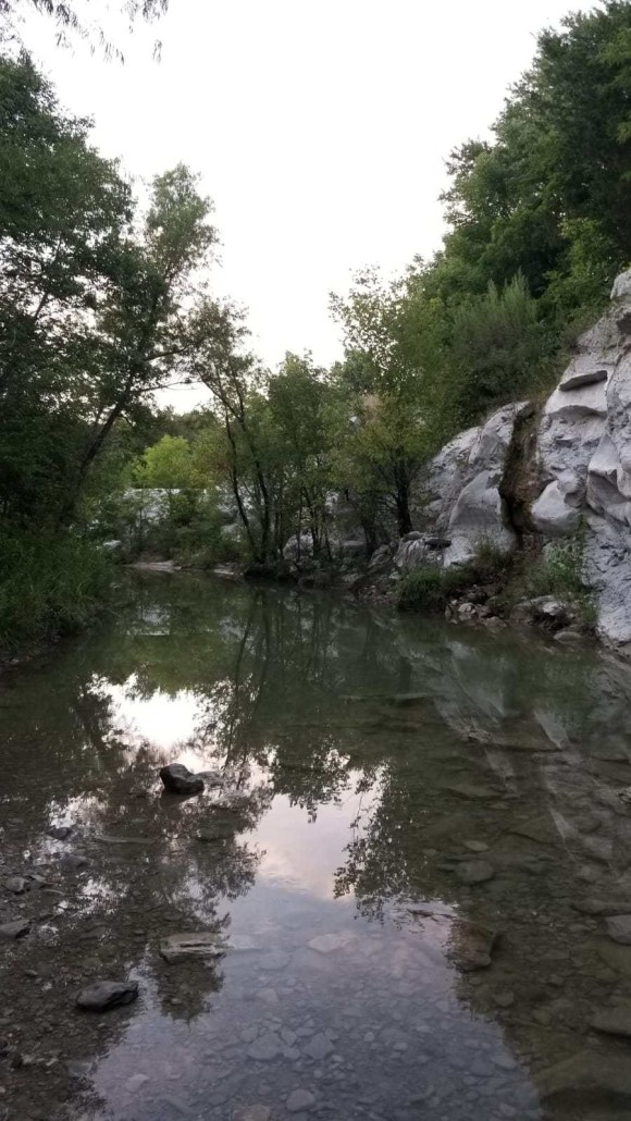 west rowlett creek surrounded by limestone quarry