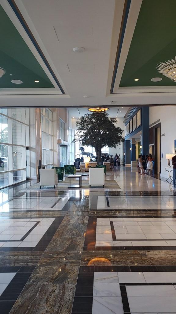 The lobby at Fairmont Austin