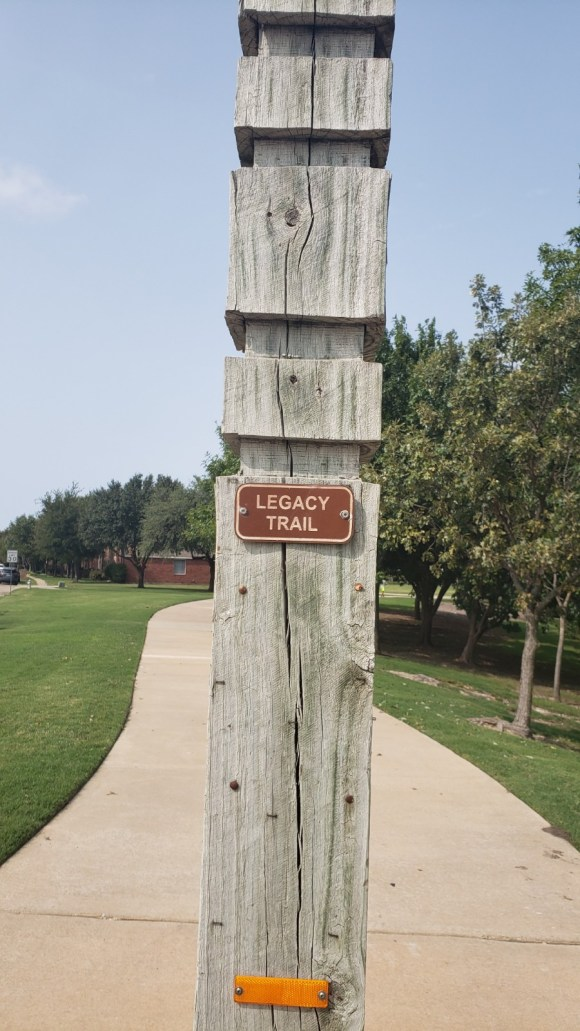 Trail marker for Legacy Trail