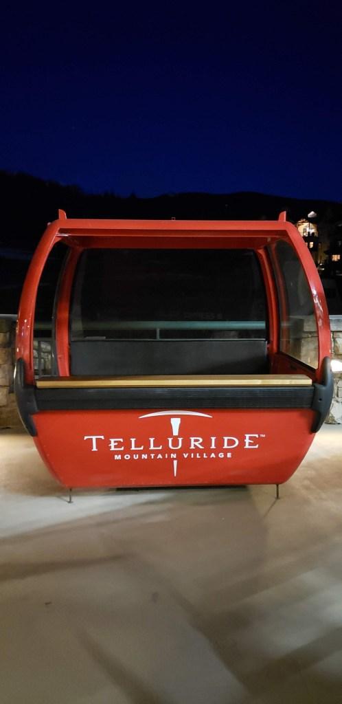 red Gondola Car in Telluride