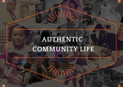 AUTHENTIC COMMUNITY LIFE