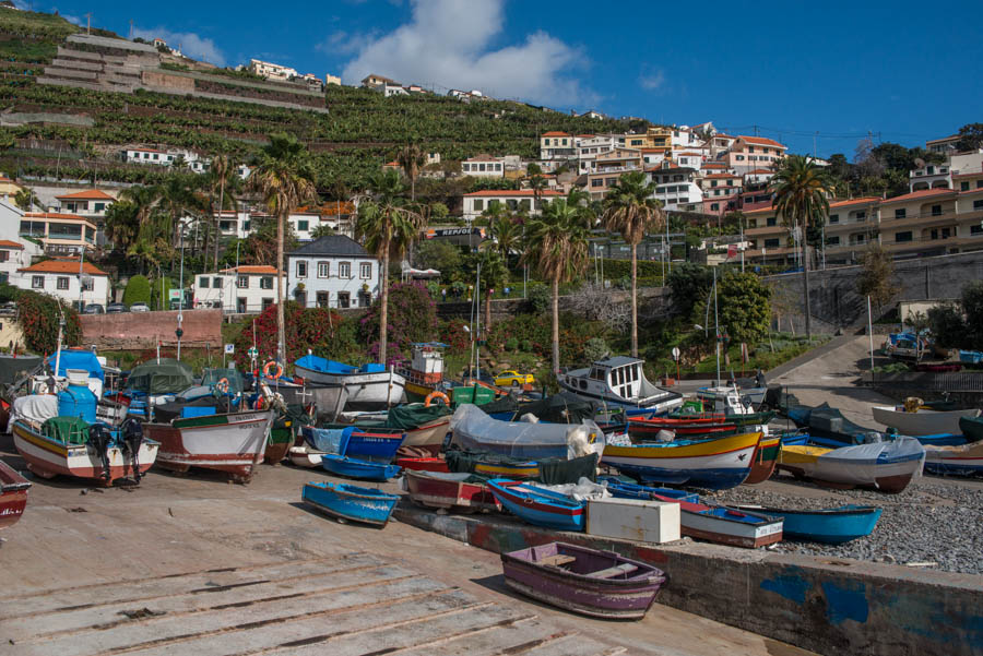 The small fishing village of Camara de Lobos, Madeira