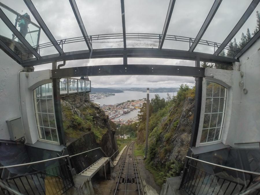 Floibanen Funicular, Floyen, Bergen.