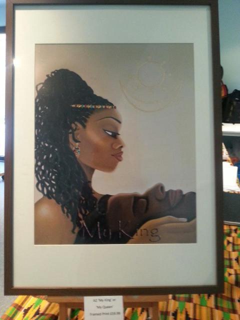 My King Framed Print