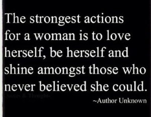 Strongest actions for a Woman