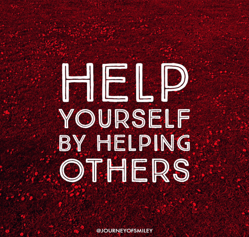 help yourself by helping others