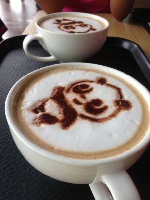 These cappuccinos simultaneously raise funds for the Giant Panda's upkeep...