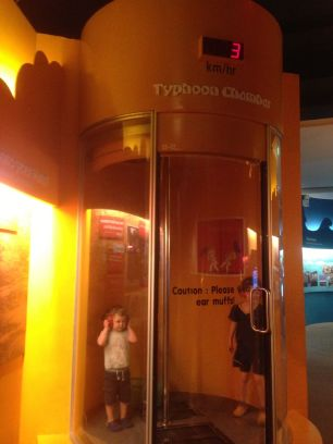 Typhoon Yolanda reached wind speeds eighty times faster than what organisers feel can be safely experienced at the typhoon chamber of the Singapore Science Centre.