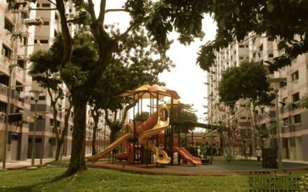 Typical HDB estate, Singapore.