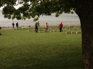 War graves at ANZAC Cove, Turkey.