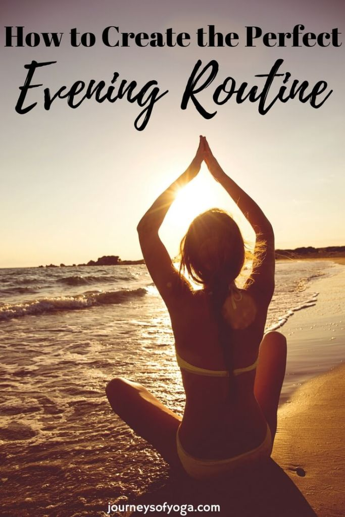So many great ideas to create an evening routine that you will love.