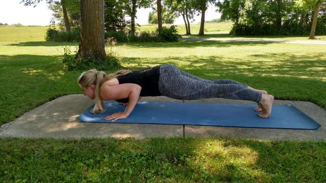 Chaturanga Dandasana, a very popular pose, that is hard to do right and can easily lead to injury.
