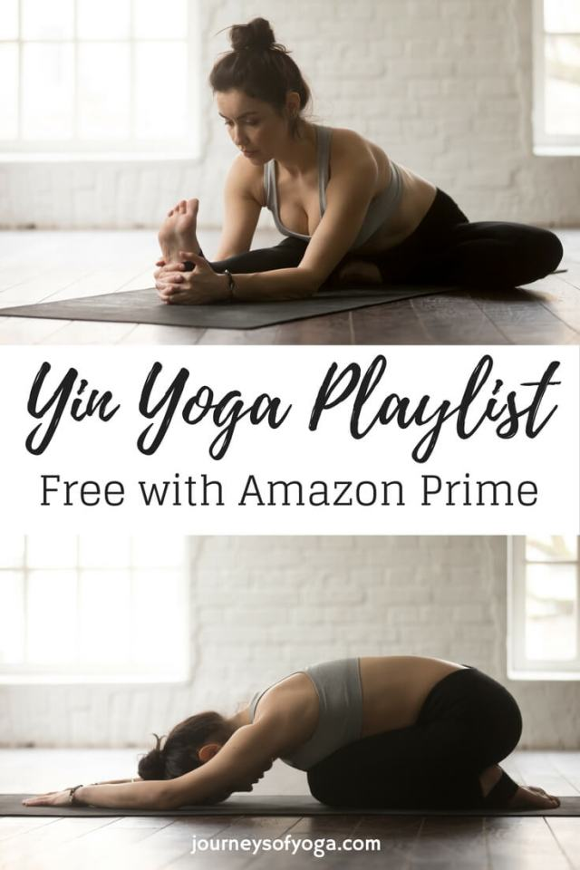 Yin Yoga Playlist, free with Amazon Prime, three 30-minute segments can be used with a 30, 60, or 90-minute practice