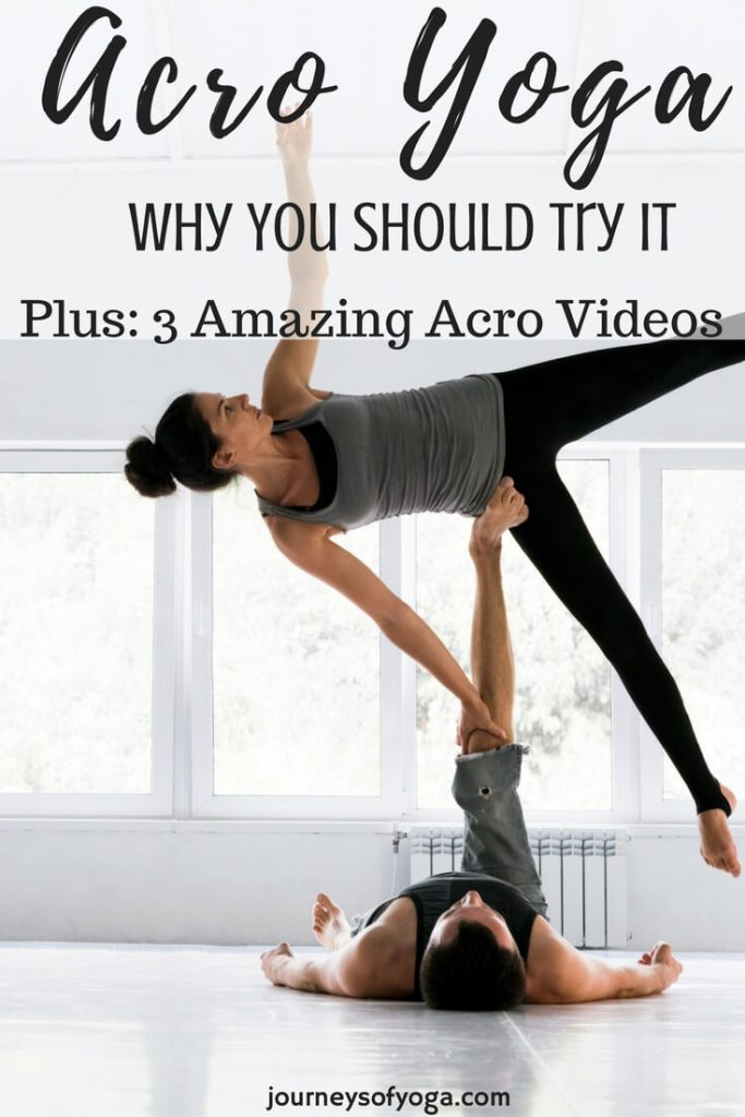 Acro partner yoga is fun to watch and has great benefits when you try it!