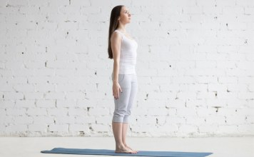 Tadasana Yoga Pose, also known as Moutain Pose is often the starting point for standing yoga poses. Because you will come across this pose several times in most yoga classes and because of the many benefits of Tadasana Yoga Pose it is important to understand the details of the pose.