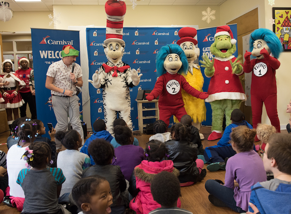 """Carnival Cruise Line """"Merry Grinchmas"""" Spreads Cheer to Children"""
