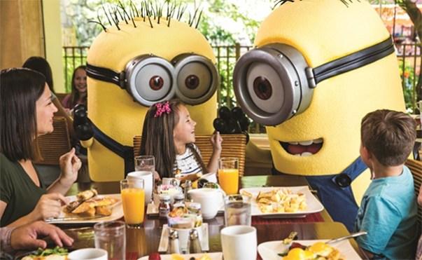 universal orlando character dining